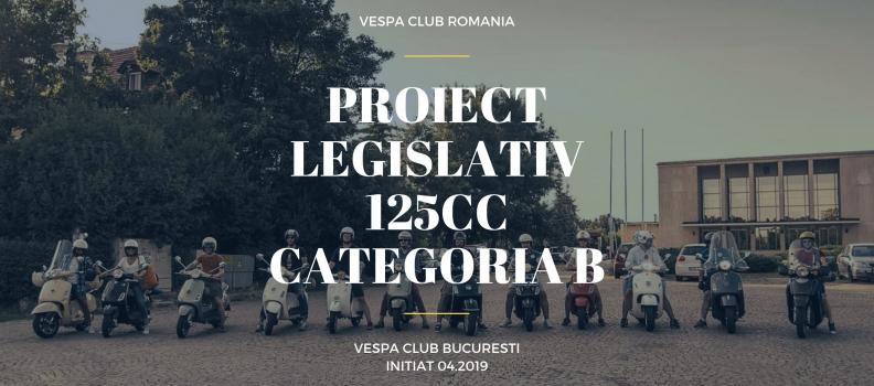 Proiect legislativ: Conducere scutere 125cc cu categoria B