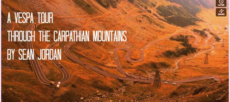 Proiectul Vespa360 si un Road Trip prin Muntii Carpati